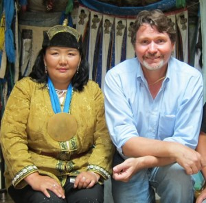 Mongolian shaman Sakhantuya and Kevin Turner